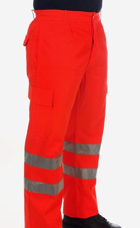 Pantalón rojo alta visibilidad Image