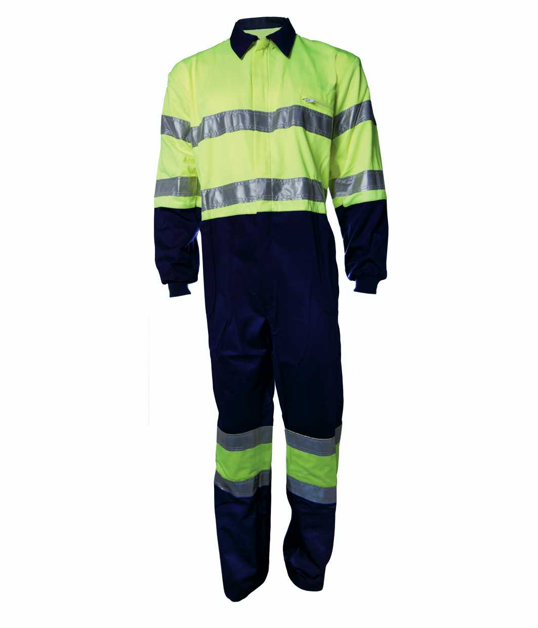 Coverall two tone yellow hi-visibility 100% cotton Image