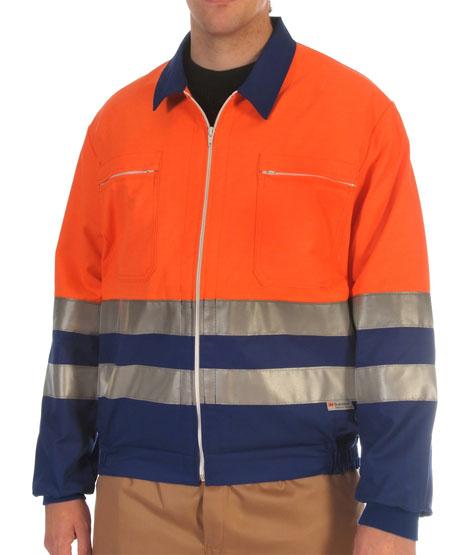 Hi-visibility two toned orange jacket Image