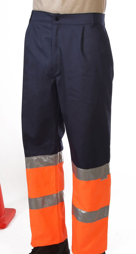 Hi-visibility two toned orange trouser Image