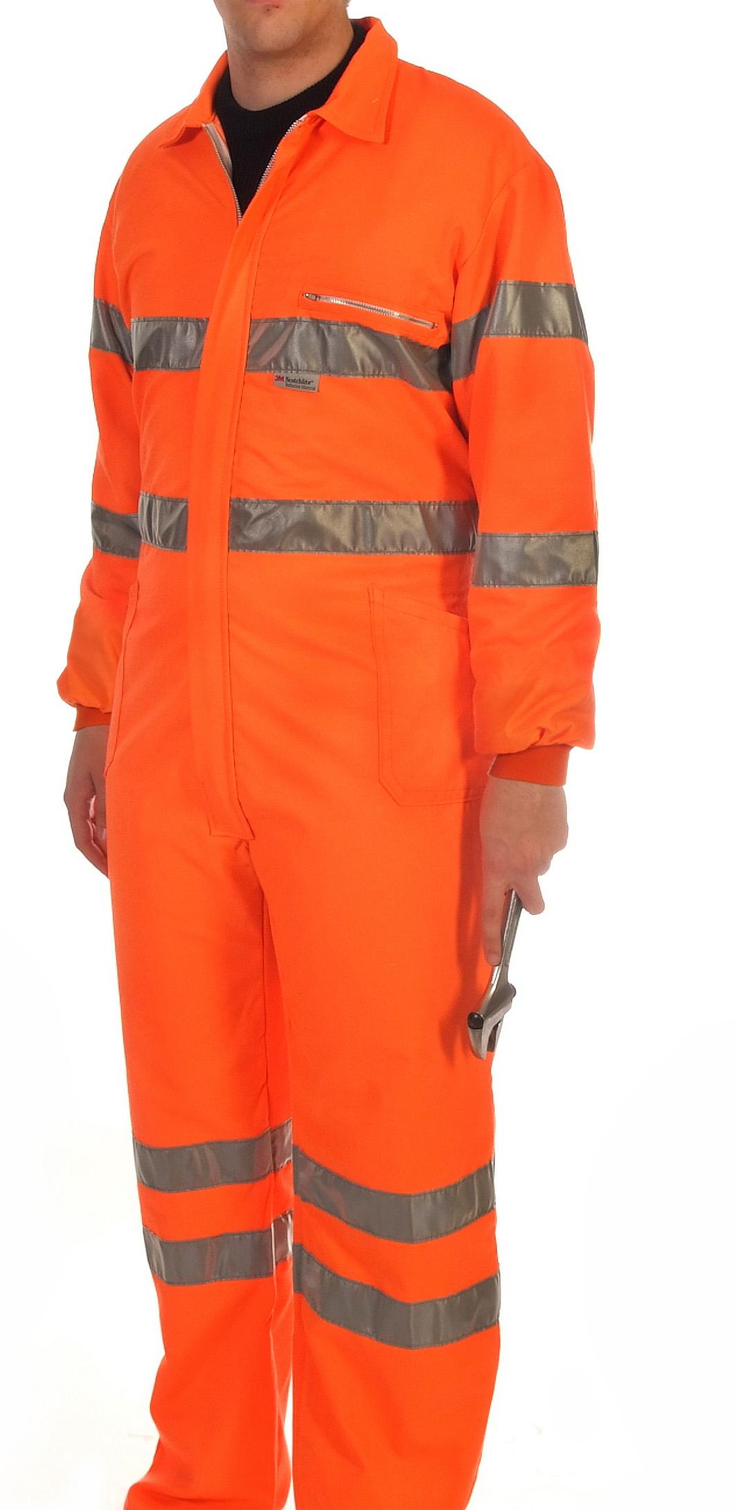 Orange hi-visibility coverall Image