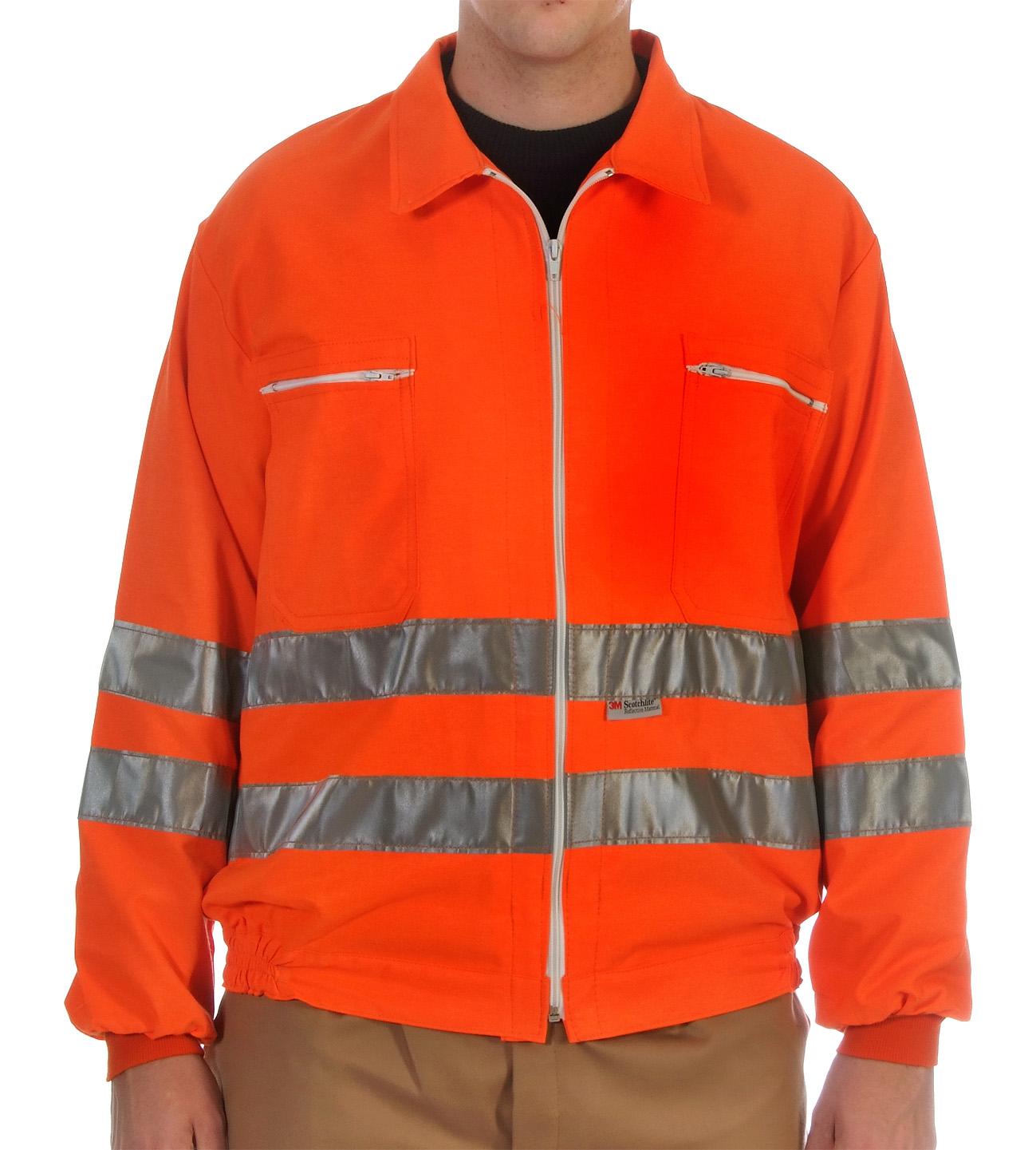 Orange hi-visibility jacket Image