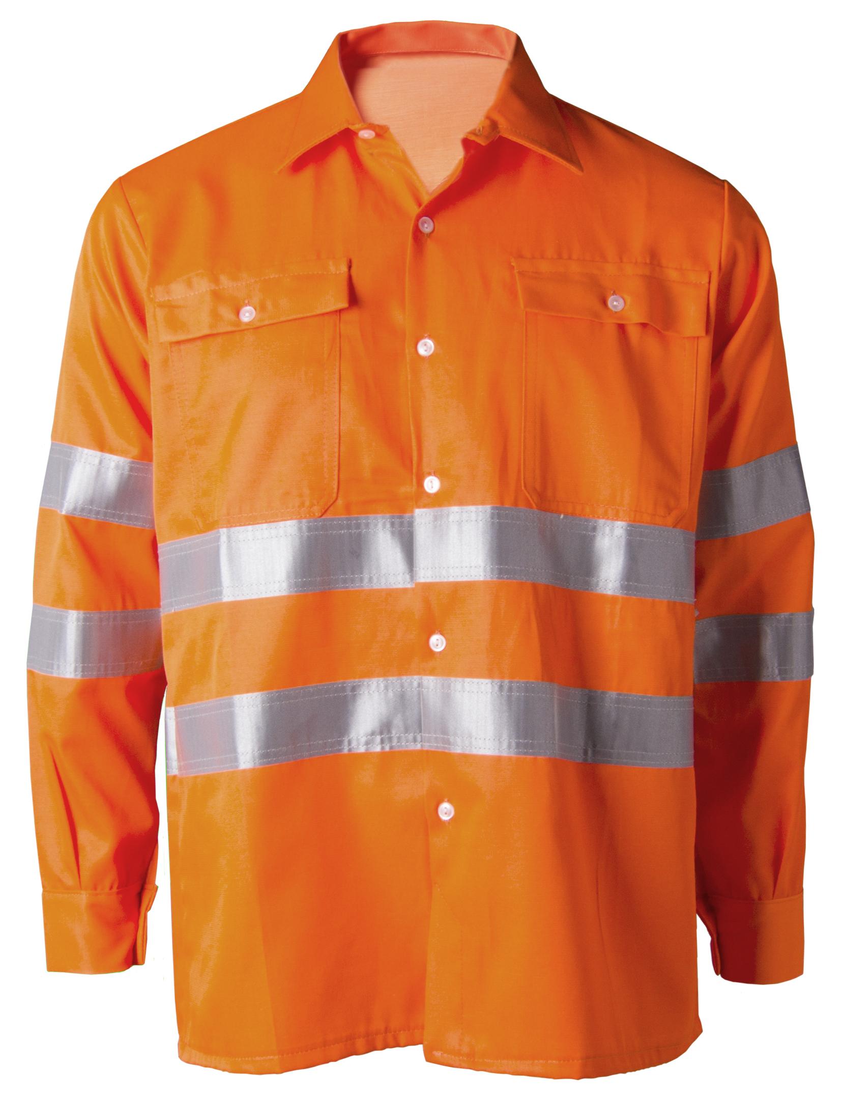 Orange hi-visibility shirt Image