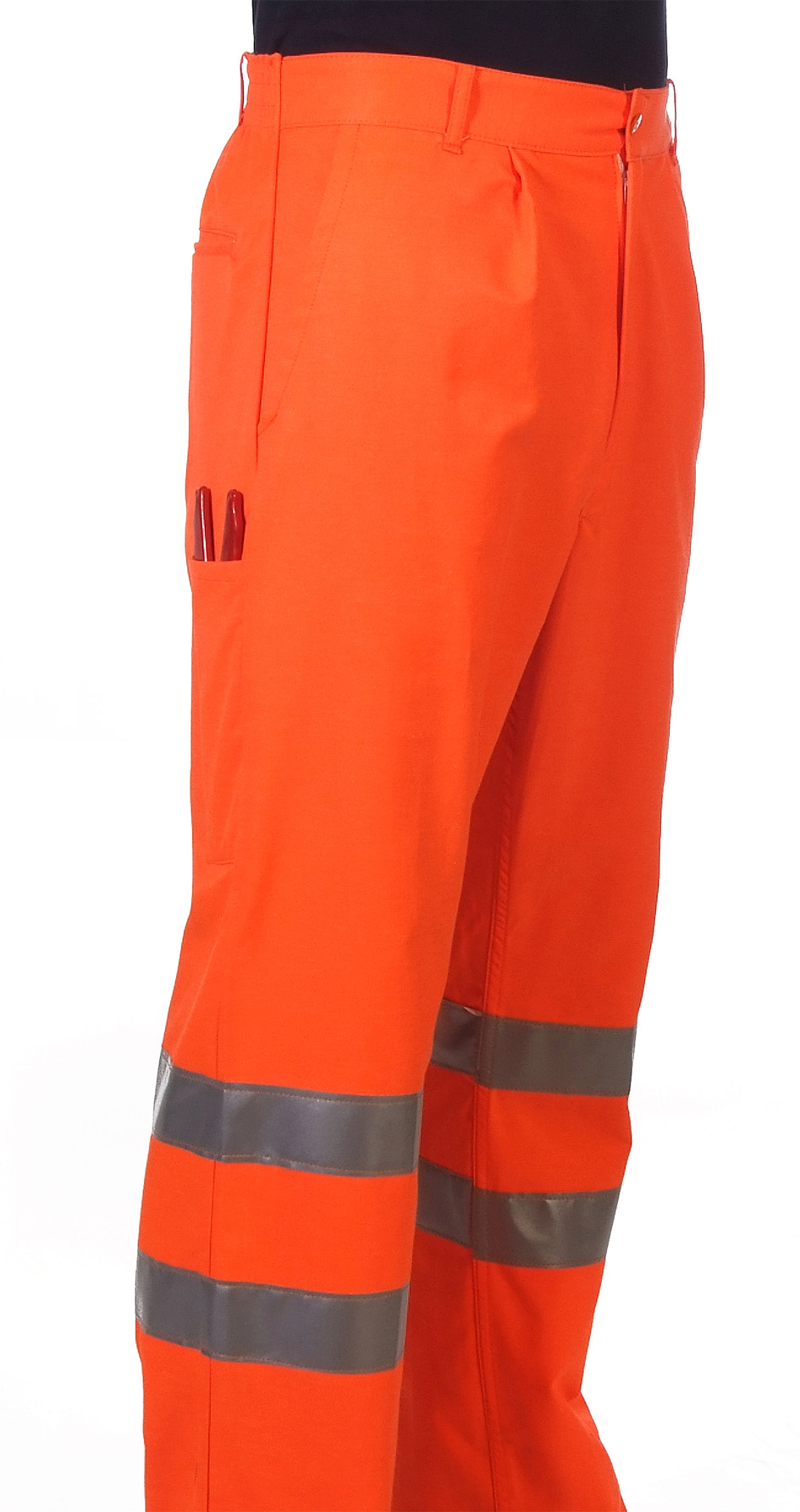 Orange hi-visibility trouser Image