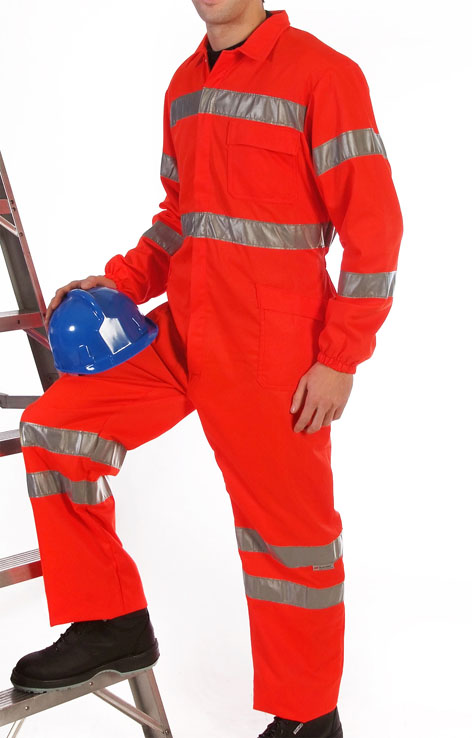 Red hi-visibility coverall Image