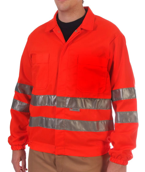 Red hi-visibility jacket Image