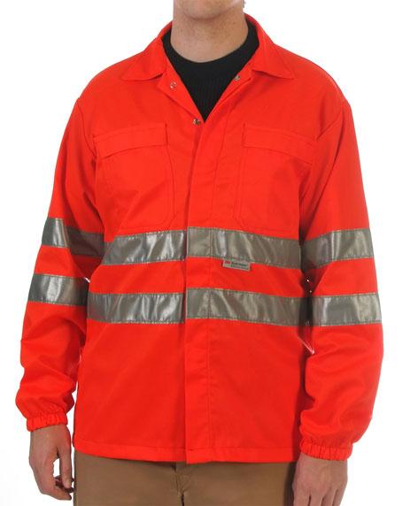 Red hi-visibility shirt Image