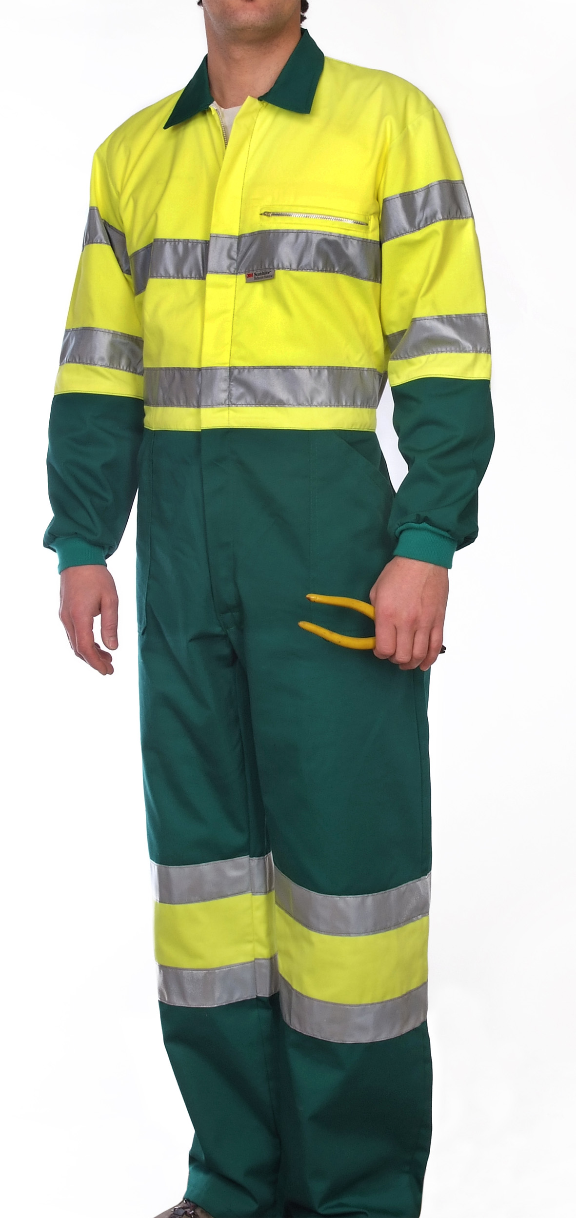 Hi-visibility two toned yellow coverall Image