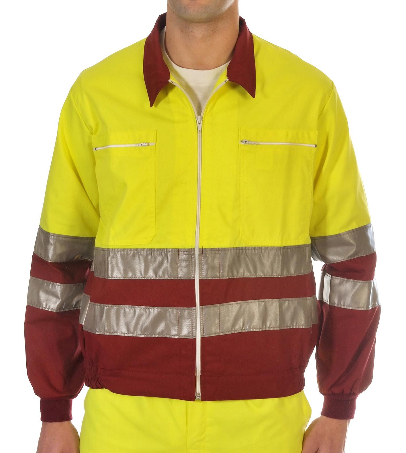 Hi-visibility two toned yellow jacket Image