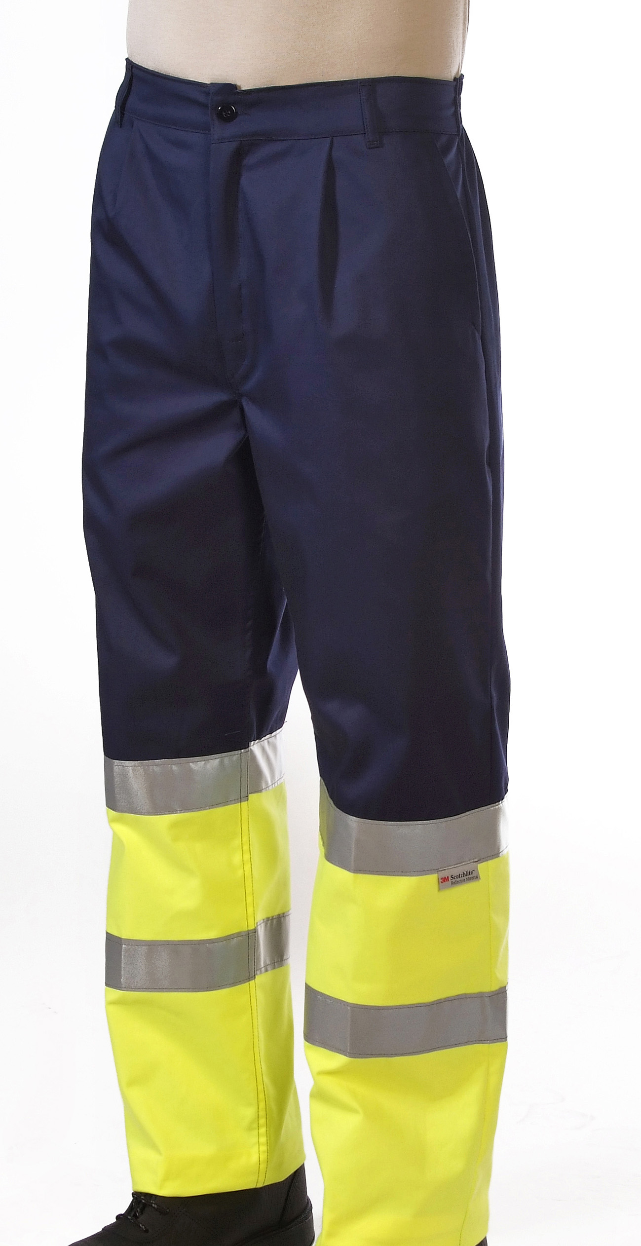Hi-visibility two toned yellow trouser Image