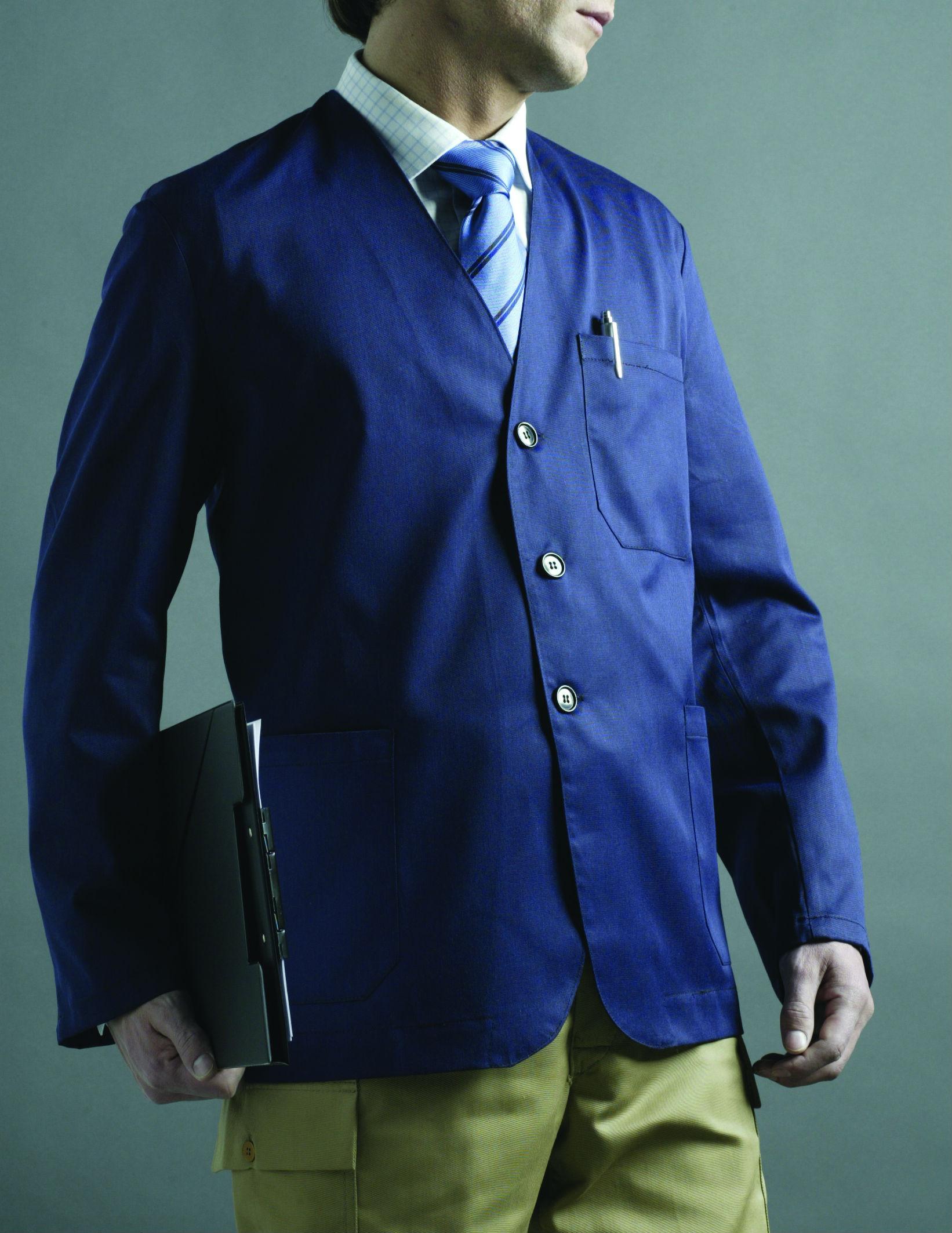 Jacket without lapels Image