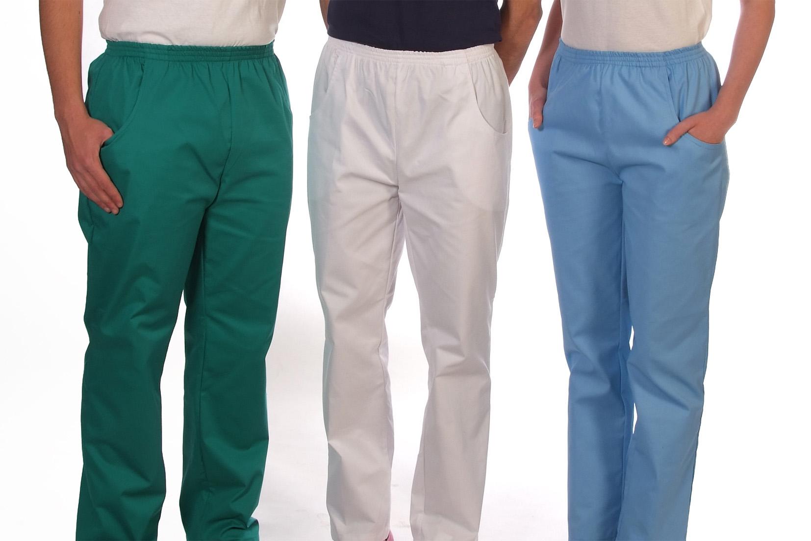 Elastic waist scrub trousers Image